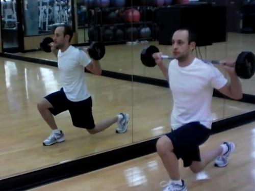 Lunges (Barbell) Image