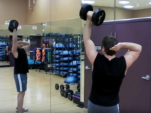 One-Arm Overhead Extensions (Dumbbell) Image