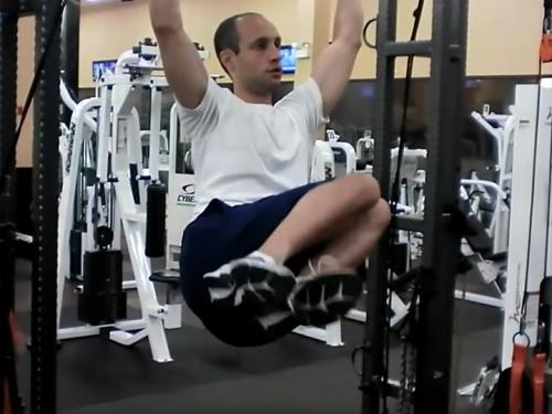 Side Knee Raises Hanging Grip Image
