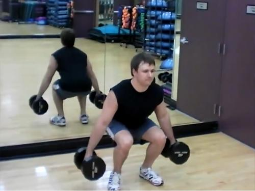 Squats (Dumbbell) Image