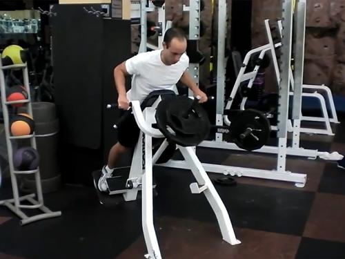 T-Bar Rows with Chest Support Image