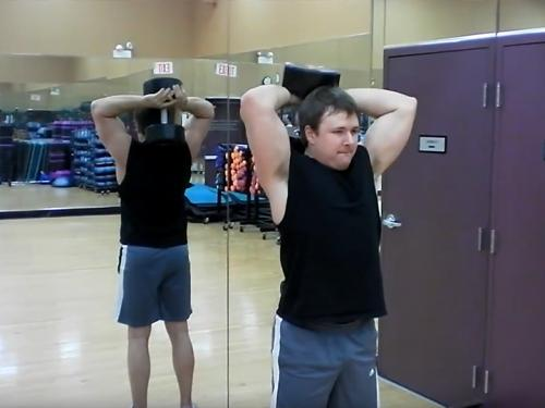 Two-Arm Overhead Extensions (Dumbbell) Image